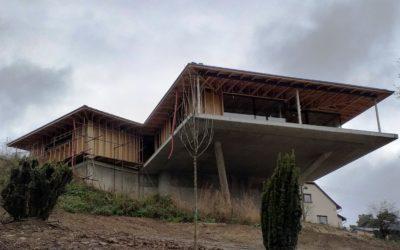 PAVATEX na fasádě nízkoenergetického domu z CLT panelů
