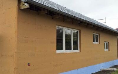 Pavatex Isolair 100 mm na stěně dřevostavby